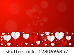 abstract flying red and white... | Shutterstock .eps vector #1280696857