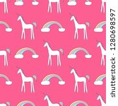 vector seamless pattern with... | Shutterstock .eps vector #1280698597
