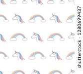 vector seamless pattern with... | Shutterstock .eps vector #1280699437
