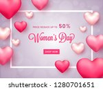 women's day banner or poster... | Shutterstock .eps vector #1280701651