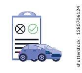 car sedan with clipboard... | Shutterstock .eps vector #1280706124