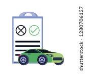 car sedan with clipboard... | Shutterstock .eps vector #1280706127