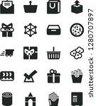 solid black vector icon set  ... | Shutterstock .eps vector #1280707897
