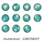 earth from several corners of... | Shutterstock .eps vector #1280708257