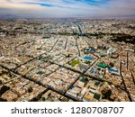 aerial view of arequipa city in ... | Shutterstock . vector #1280708707