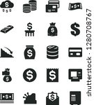 solid black vector icon set  ... | Shutterstock .eps vector #1280708767