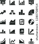solid black vector icon set  ... | Shutterstock .eps vector #1280708914