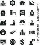 solid black vector icon set  ... | Shutterstock .eps vector #1280708944