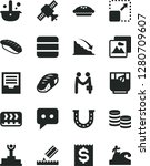 solid black vector icon set  ... | Shutterstock .eps vector #1280709607