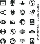 solid black vector icon set  ... | Shutterstock .eps vector #1280710381