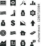 solid black vector icon set  ... | Shutterstock .eps vector #1280710384