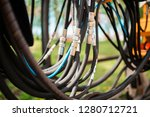close up of pipe system of... | Shutterstock . vector #1280712721