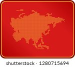 map of asia | Shutterstock .eps vector #1280715694