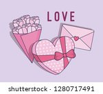 love card with gift heart shape | Shutterstock .eps vector #1280717491