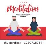 man and woman meditation vector ... | Shutterstock .eps vector #1280718754