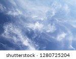 blue sky clouds background.   Shutterstock . vector #1280725204