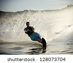 Man On A Water Ski.  Soft Focu...