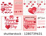 vector valentine's day cards... | Shutterstock .eps vector #1280739631