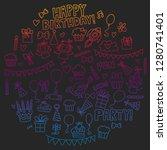 vector pattern for birthday...   Shutterstock .eps vector #1280741401