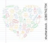 cough  pills  influenza  flu ...   Shutterstock .eps vector #1280742754