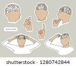 vector stickers design set.... | Shutterstock .eps vector #1280742844