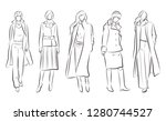 fashion illustration of the...   Shutterstock .eps vector #1280744527