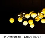 yellow rounds lights against... | Shutterstock . vector #1280745784
