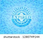expired sky blue emblem with... | Shutterstock .eps vector #1280749144