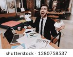 businesspeople. disappointed.... | Shutterstock . vector #1280758537
