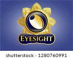 gold shiny badge with olive... | Shutterstock .eps vector #1280760991
