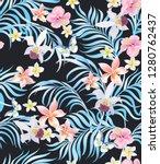 tropical vector seamless... | Shutterstock .eps vector #1280762437