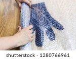 workshop of hand making a... | Shutterstock . vector #1280766961
