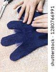 workshop of hand making a... | Shutterstock . vector #1280766991