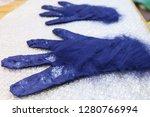 workshop of hand making a... | Shutterstock . vector #1280766994