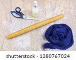 workshop of hand making a... | Shutterstock . vector #1280767024