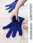 workshop of hand making a... | Shutterstock . vector #1280767057