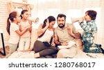 naughty children annoying... | Shutterstock . vector #1280768017