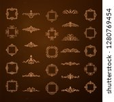 vintage decor elements and... | Shutterstock .eps vector #1280769454