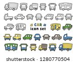 icon set of car   only line... | Shutterstock .eps vector #1280770504
