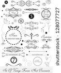 set of various calligraphic...   Shutterstock .eps vector #128077727
