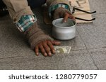 beggars man to show his hand ...   Shutterstock . vector #1280779057