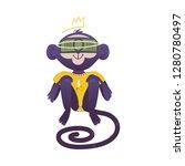 vector illustration of monkey...   Shutterstock .eps vector #1280780497
