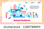 illustration online doctor... | Shutterstock .eps vector #1280788894
