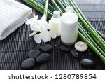 spa setting with white ginger... | Shutterstock . vector #1280789854