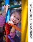 little cute girl on the... | Shutterstock . vector #1280794021