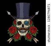 skull. the skull of the... | Shutterstock .eps vector #1280796871