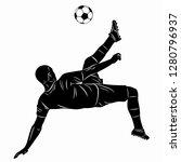 illustration of soccer player   ... | Shutterstock .eps vector #1280796937