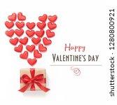 valentine's day card.... | Shutterstock . vector #1280800921
