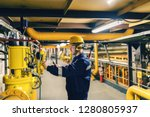 young caucasian worker in... | Shutterstock . vector #1280805937