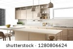 interior design project draft ... | Shutterstock . vector #1280806624